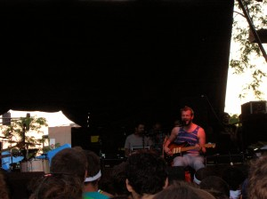 "Bon Iver rocking the ""B"" stage on Sunday at Pitchfork Music Festival 2008 in Union Park, Chicago."