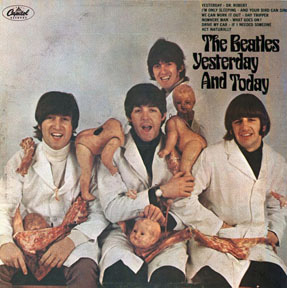 """The Beatles, and their banned album artwork for """"Yesterday and Today"""""""