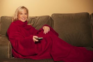 the Snuggie, in action