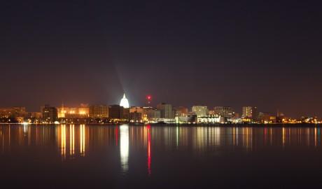 Madison Wisconsin skyline