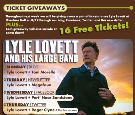 Lyle Lovett free tickets jpeg