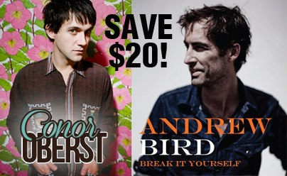 Conor Oberst Andrew Bird discount bundle