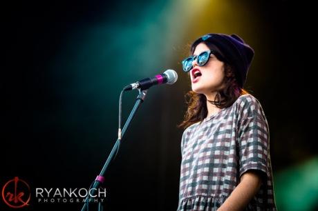 Sky Ferreira performing at Revelry Music & Arts Festival (photo: Ryan Koch)